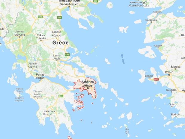 Plusieurs foyers d'incendies ont été localisés dans la région de l'Attique en Grèce - DR