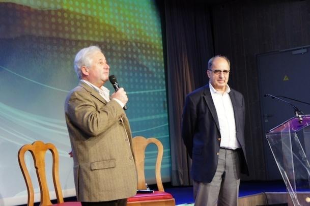 Les deux co-présidents de AS Voyages : François-Xavier de Boüard et Jean-Pierre Mas au congrès de Valmorel - Photo CE