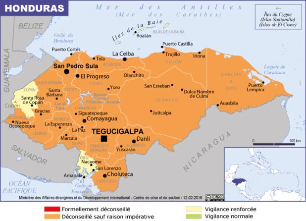 Il est recommandé de reporter dans la mesure du possible les voyages au Honduras - DR : MAEDI