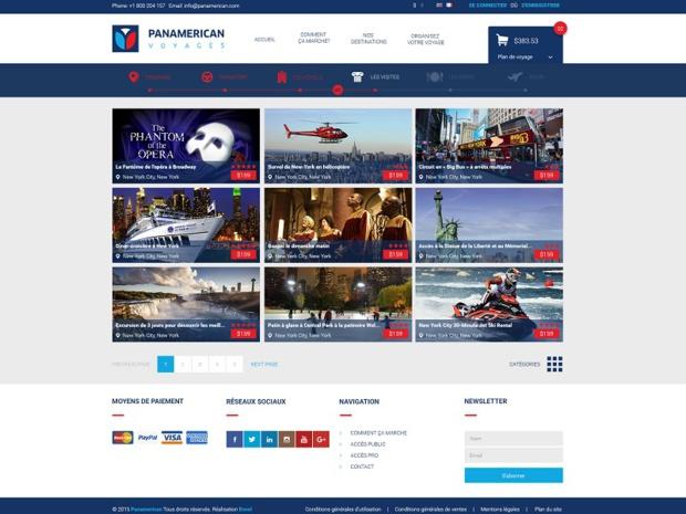 Le site du DMC Panamerican Voyages a aujourd'hui disparu, tout comme l'entreprise elle-même - (photo : copie d'écran)