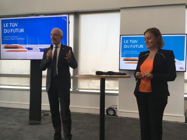 Guillaume Pepy, président du directoire SNCF et Rachel Picard, directrice générale de Voyages SNCF. - CL