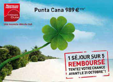 Séjour Punta Cana : 1 chance sur 5 de se faire rembourser avec Nouvelles Frontières