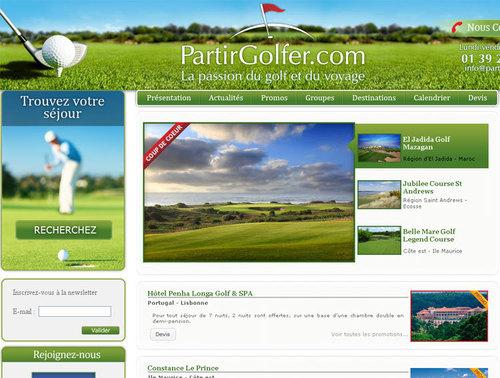 Partirgolfer.com : nouvelle agence spécialisée dans la petite balle blanche