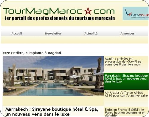 Maroc : 1ère implantation à l'étranger pour le Groupe TourMaG.com