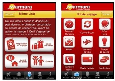 Marmara : une appli iPhone pour ''préparer et vivre de bonnes vacances''