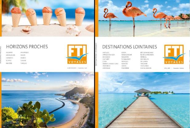 FTI Voyages vient de faire paraître ses 4 nouveaux catalogues - DR