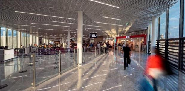 Le terminal ouest hall 1 de l'aéroport d'Orly ouvre une extension - crédit photo : ADP