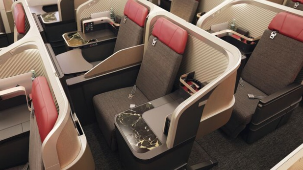 Les nouveaux sièges en Premier Business - DR