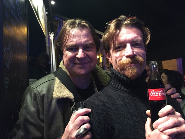 Thierry Maillet avec Jesse Hughes de Eagles of Death Metal - DR : T. Maillet