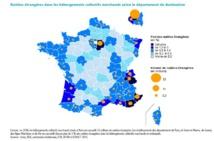 Nuitées étrangères dans les hébergements collectifs marchands selon le département de destination - source : www.entreprises.gouv.fr