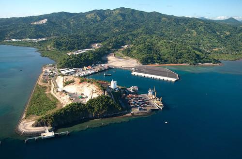 Le port de Longoni en vue aérienne - DR : OT Mayotte