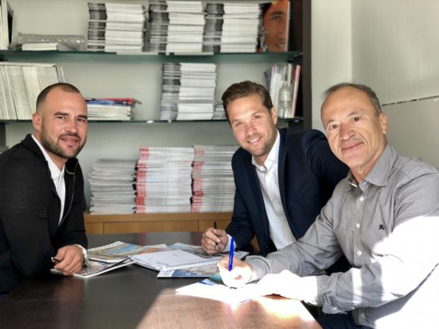 Fabien da Luz, président, Jérôme Gruget, directeur général et Jean da Luz, directeur de la Rédaction d'Hôtel&Lodge PRO : crédit photo Estelle