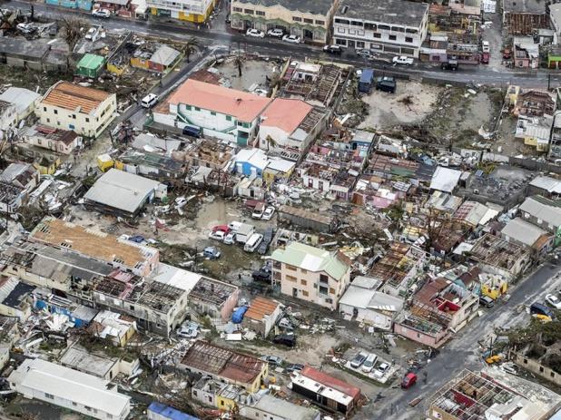 Malgré la force de l'ouragan Irma, l'île de Saint Martin n'est plus un champ de ruine - crédit photo : CC0 Ministère de la Défense Pays-Bas