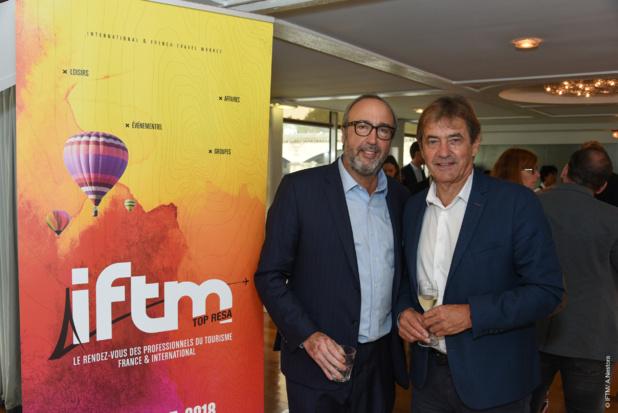 Frédéric Lorin, directeur du salon et Michel Dielman, président de l'AFTM - DR : A. Nestora