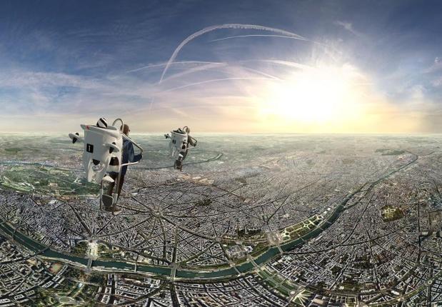 Les vues au-dessus de Paris ont été tournées avec un drone, un dispositif de 7 caméras à 360 degrés, et une équipe digne d'une production cinématographique. Photo FlyView Paris.