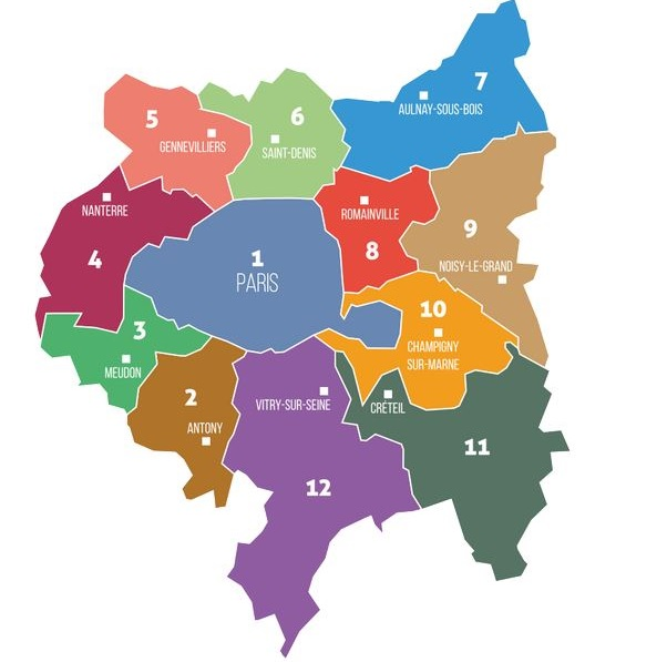 Carte du Grand Paris - wikicommons CC BY-SA 4.0