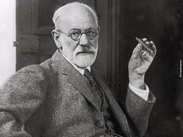 Sigmund Freud. Portrait.