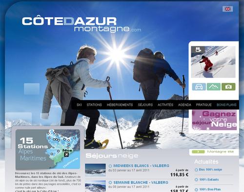 Un nouveau site « neige et Ski » sur la Côte d'Azur