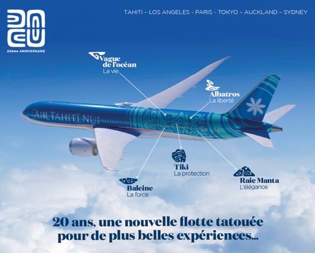Découvrez la Polynésie dès votre embarquement sur Air Tahiti Nui.