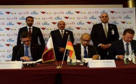 Protocole d'accord entre les compagnies AIDA et Costa Croisières, et Qatar Tourism Authority (QTA) - DR