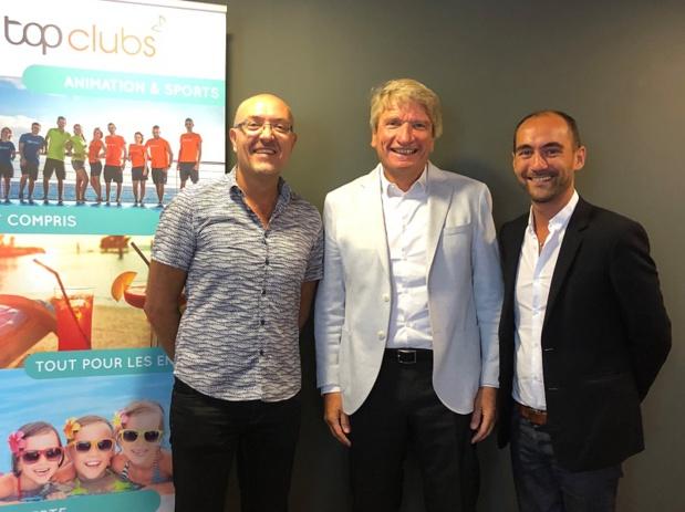 Helmut STÜCKELSCHWEIGER entouré de Georges Estèves et Cyril Roucout - Photo DR