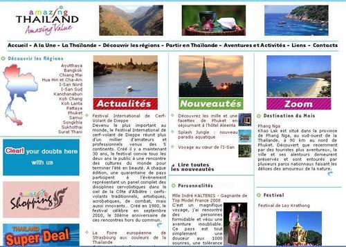 Le nouveau design du site internet en Français de l'office du tourisme