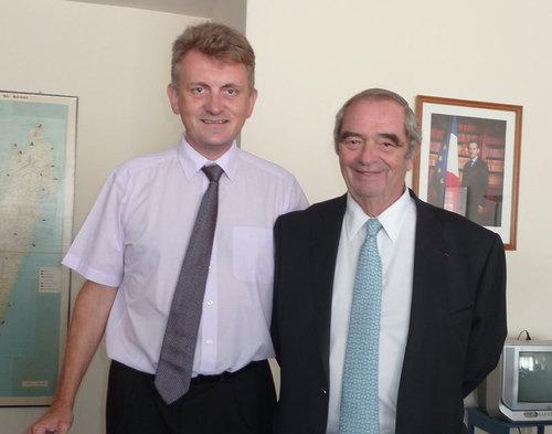Jean-Marc Chataignier, Ambassadeur de France à Madagascar et Georges Colson président du SNAV