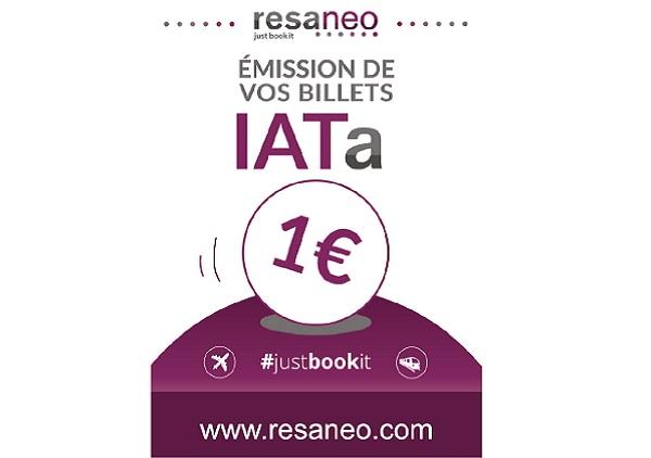 Resaneo propose une émission des billets aux agences non IATA pour 1 euro - Crédit photo : Resaneo