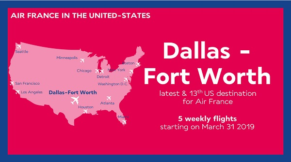 Dallas est la nouvelle ligne dévoilée par Air France, reliant la France aux USA - Crédit photo : Air France