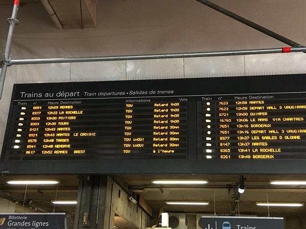 Suite à l'incident survenu à la Gare Montparnasse une audition au Sénat a eu lieu pour éclaircir l'affaire - Crédit photo : compte Twitter @UP_Rennes