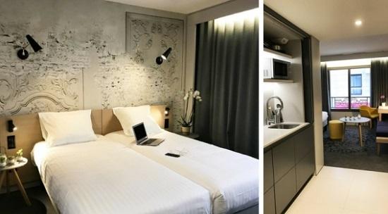 Les chambres de l'Appart'Hotel de Cannes - DR Nemea