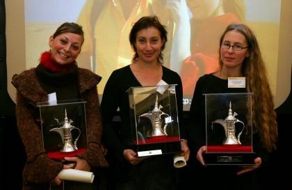 Christelle Mouchel, ODYSIA, Adeline Lobbes, SERVOTEL et Vesma Stojicevic, OTOM VOYAGES, ont reçu leur diplôme et une récompense du Dubai-DTCM