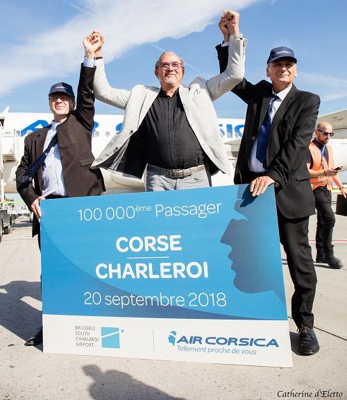 Le voyageur gagnant s'est vu offrir un an de vols gratuits au départ de l'aéroport de Bruxelles Charleroi - DR
