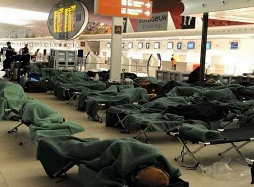 Ces dernières semaines, de très nombreux passagers se sont retrouvés bloqués dans divers aéroports en Europe, du fait des intempéries /ph. DR