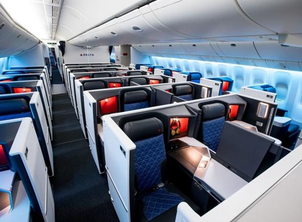 La cabine du Boeing 777-200ER de Delta Airlines - DR