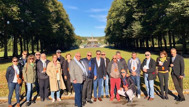 Les participants lors de la visite du parc de Vigeland à Oslo /crédit photo JDL