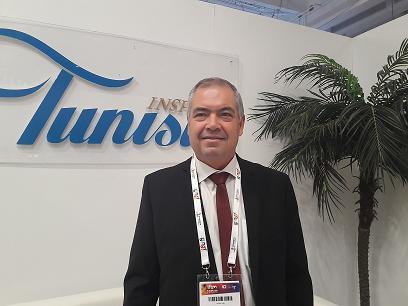 Sami Gharbi directeur de l'ONTT pour la France sur le stand  de Top Resa. Cette anée  près de 180 pros du tourisme tunisien tous secteurs d'activité confondus sont venus à la rencontre de leurs partenaires français.MS.