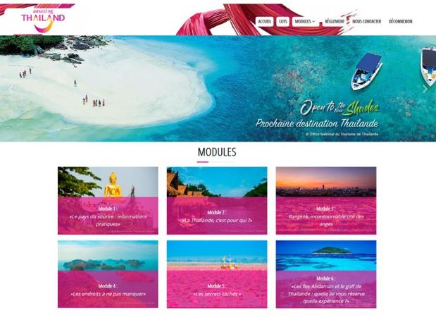 L'Office du tourisme de Thaïlande met en place un programme de e-learning - copie d'écran