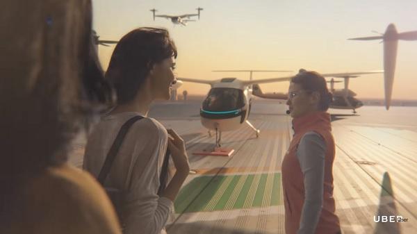 Uber envisage de laisser les voitures, pour transporter ses clients dans les airs - Crédit photo : Uber