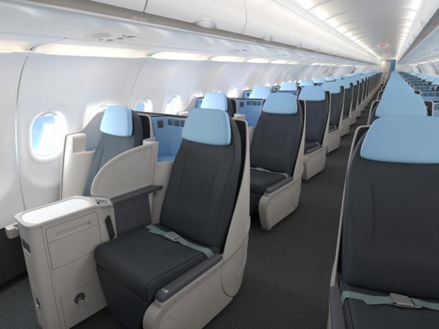 A l'intérieur des futurs A321neo de La Compagnie © La Compagnie
