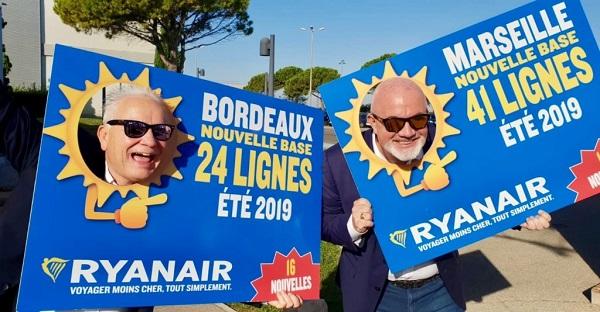 D'une pierre deux coups, après Marseille, Ryanair ouvre une base à Bordeaux - Crédit photo : Ryanair