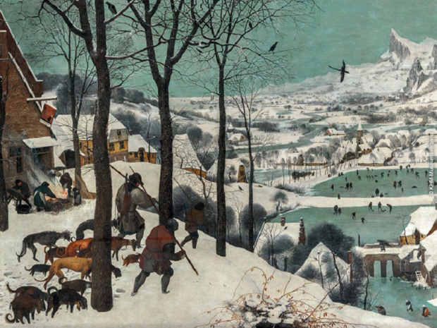 Chasseurs dans la neige de  Pieter Bruegel l'Ancien © KHM-Museumsverband