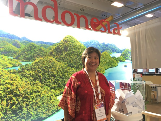 Eka Moncarre, directrice de l'office de tourisme d'Indonésie en France, à l'IFTM Top Resa 2018 - CL