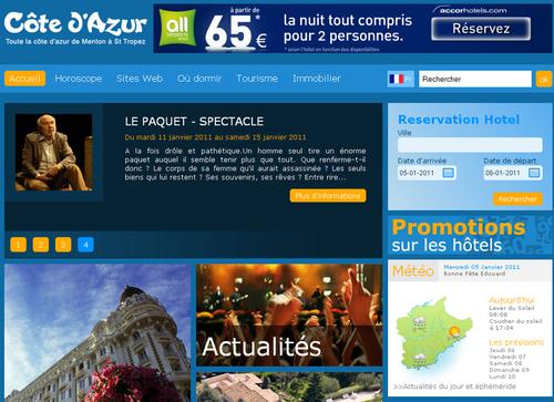Un nouvel habillage pour le site Cote.azur.fr