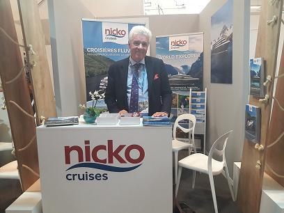 Nicolas Sharp représentant Nicko Cruises pour la France et la Belgique.