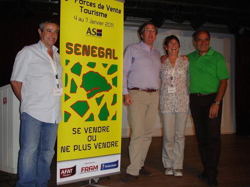 Le team des AS, Bernard Garcia, Philippe de Saint-Voctor , Dominique Beljanski et Jean-Pierre Mas