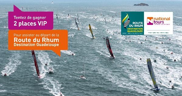 Nationaltours vous fait gagner 2 places VIP pour le départ de la Route du Rhum - Crédit photo : Nationaltours