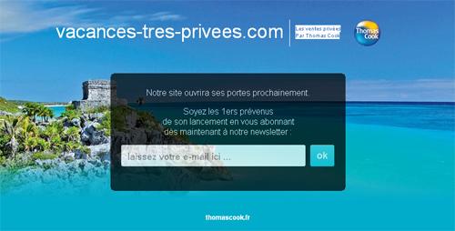Thomas Cook : le site de ventes privées lancé prochainement