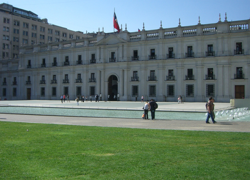 La place d'armes de Santiago du Chili