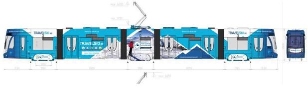 A bruxelles, un tram sera recouvert aux couleurs de Travelski - crédit : travelski